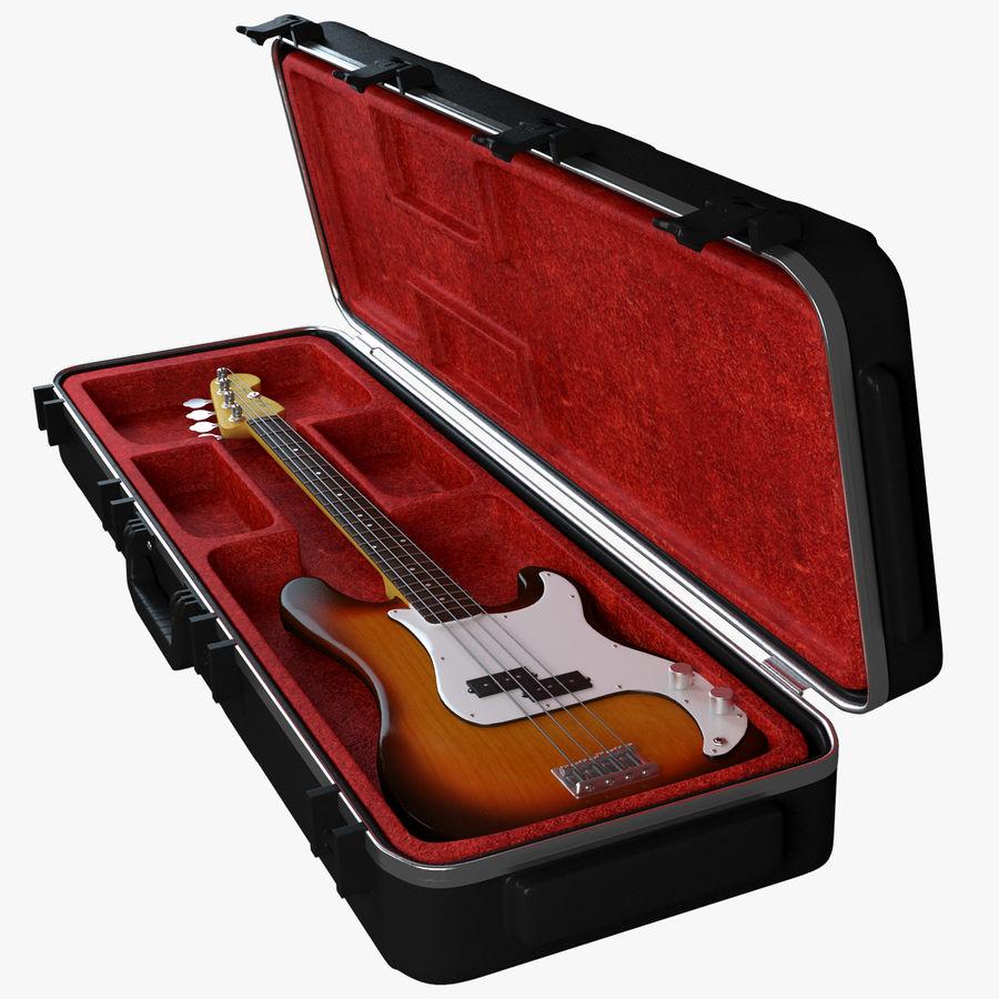 Guitar Fender Precision Bass et son étui royalty-free 3d model - Preview no. 13