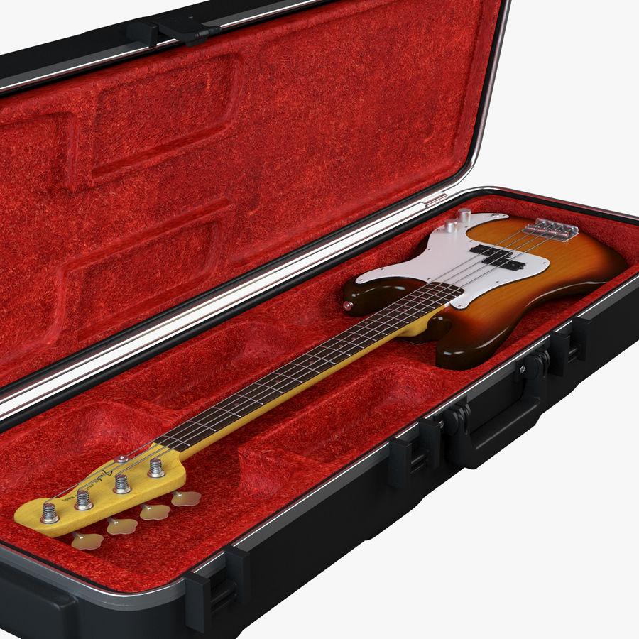Guitar Fender Precision Bass et son étui royalty-free 3d model - Preview no. 9