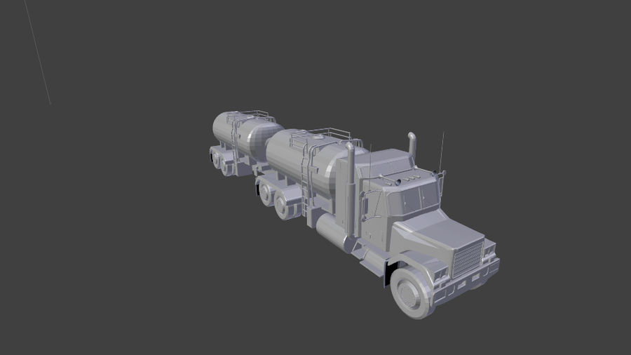 Autocisterna 2 royalty-free 3d model - Preview no. 7