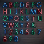 霓虹灯字母 3d model