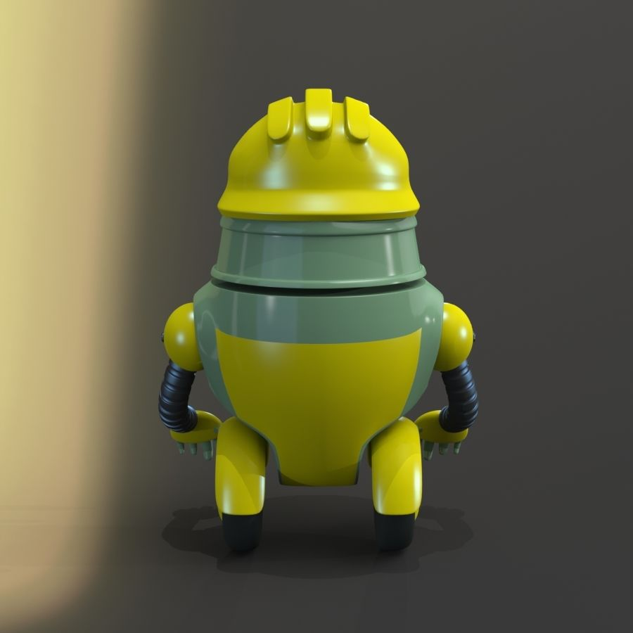 Building Robot royalty-free 3d model - Preview no. 3