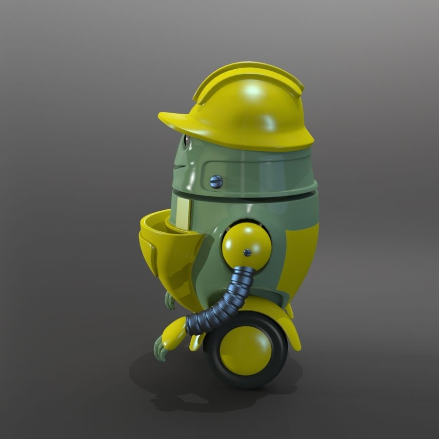 Building Robot royalty-free 3d model - Preview no. 2