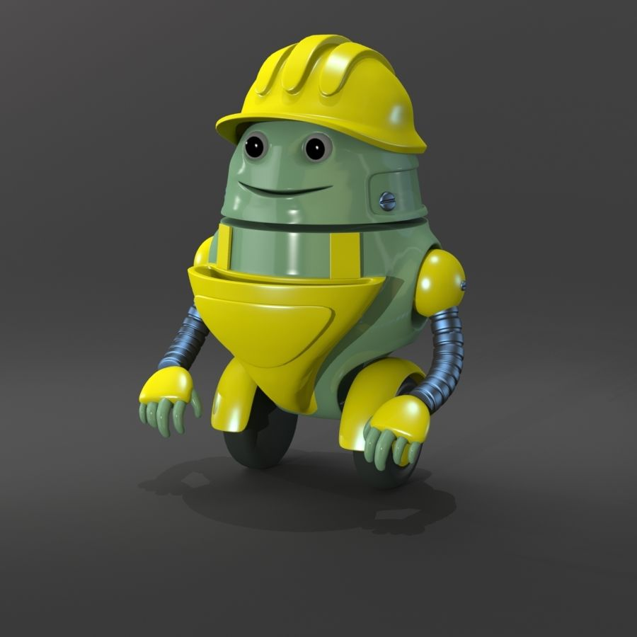Building Robot royalty-free 3d model - Preview no. 1