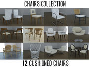 Chair Collection Cushioned 3d model
