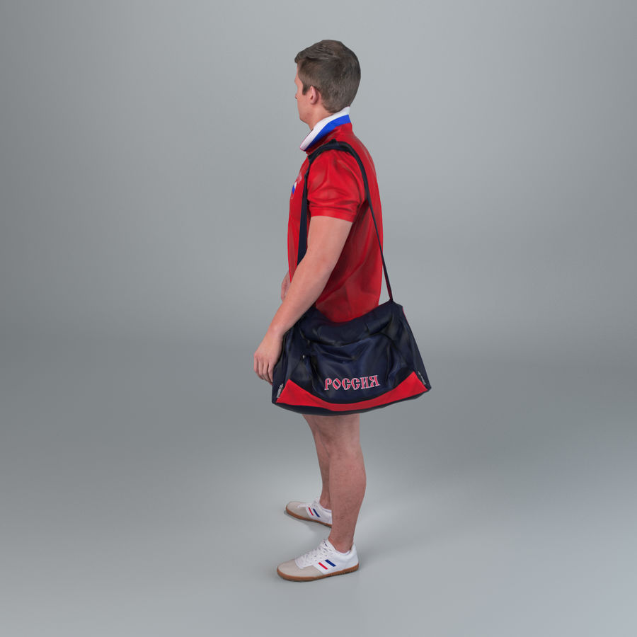 Sport-Sum_Man_RtStand_120 royalty-free 3d model - Preview no. 6