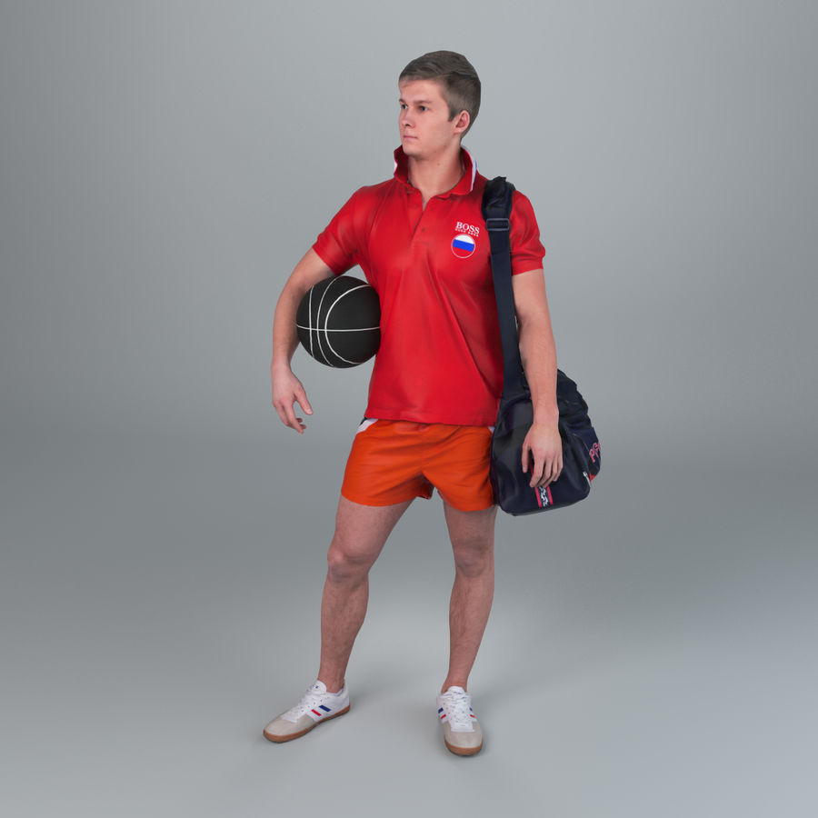 Sport-Sum_Man_RtStand_120 royalty-free 3d model - Preview no. 5