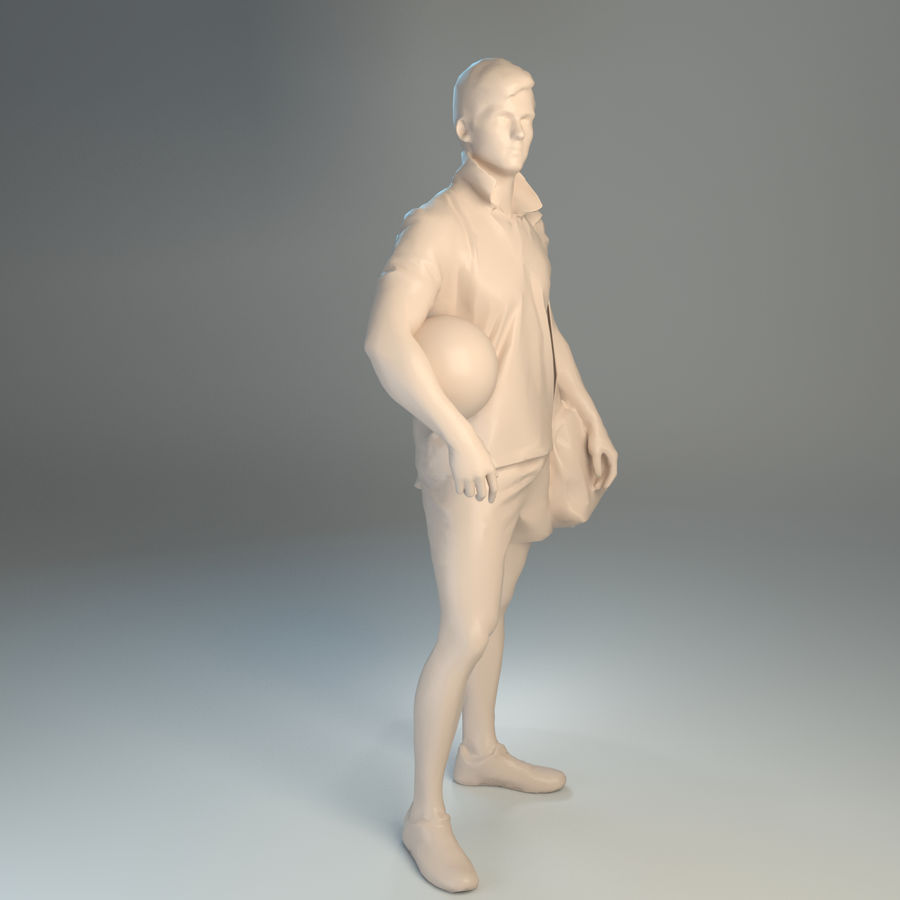 Sport-Sum_Man_RtStand_120 royalty-free 3d model - Preview no. 4