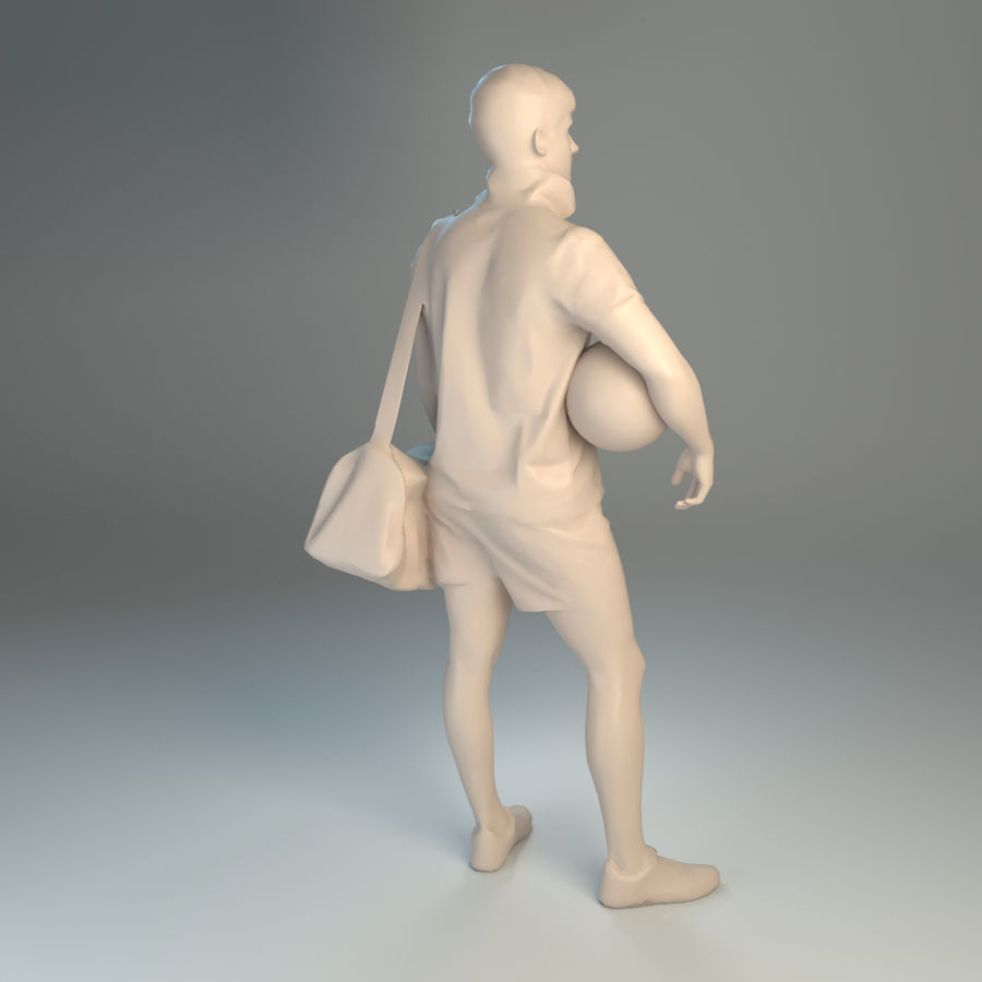 Sport-Sum_Man_RtStand_120 royalty-free 3d model - Preview no. 3