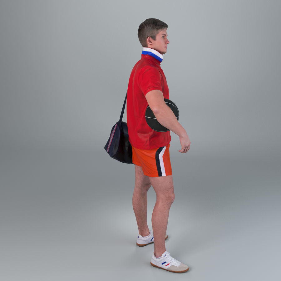 Sport-Sum_Man_RtStand_120 royalty-free 3d model - Preview no. 8