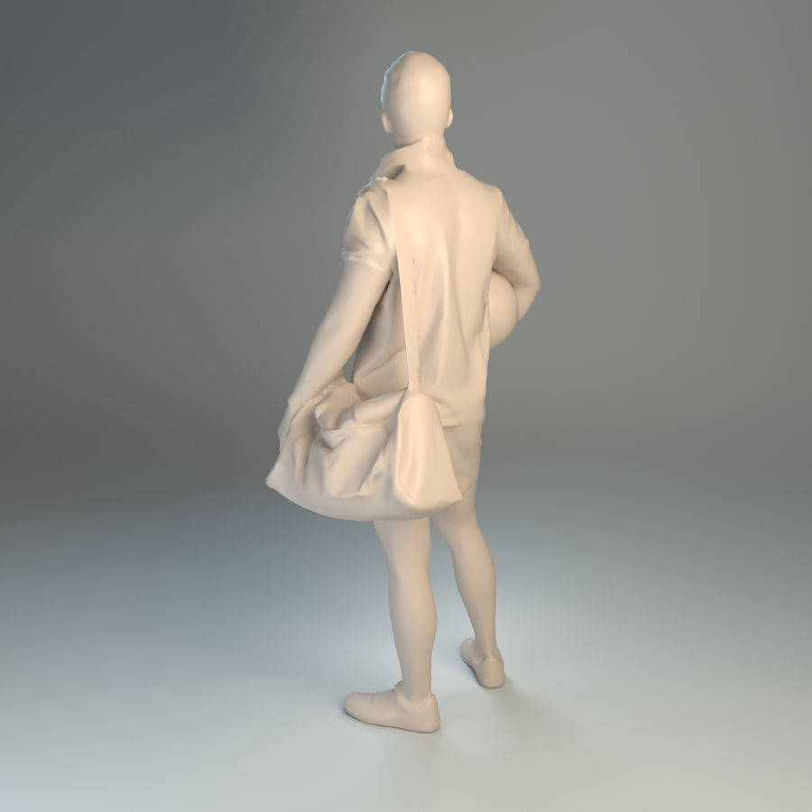 Sport-Sum_Man_RtStand_120 royalty-free 3d model - Preview no. 2