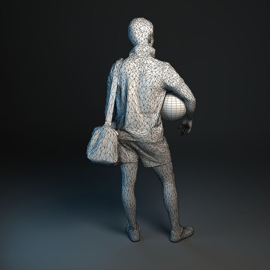 Sport-Sum_Man_RtStand_120 royalty-free 3d model - Preview no. 11