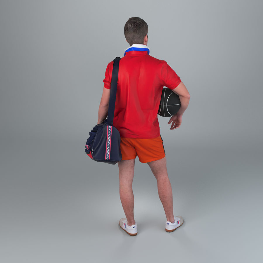Sport-Sum_Man_RtStand_120 royalty-free 3d model - Preview no. 7