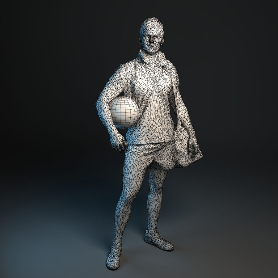 Sport-Sum_Man_RtStand_120 royalty-free 3d model - Preview no. 9