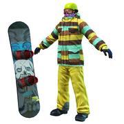 John de snowboard 3d model