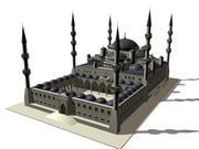 La mezquita azul modelo 3d