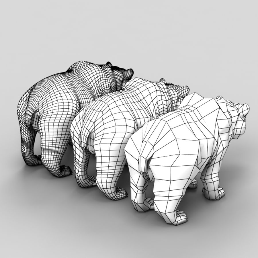 Bear Low Poly 1 royalty-free modelo 3d - Preview no. 7