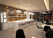 Wnętrze kawiarni 3d model