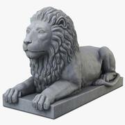Statua leone 3d model