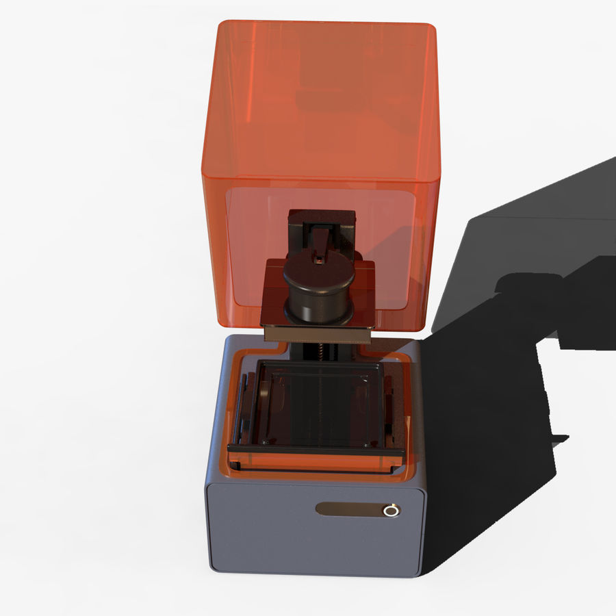 Drukarka 3D Form 1+ royalty-free 3d model - Preview no. 10