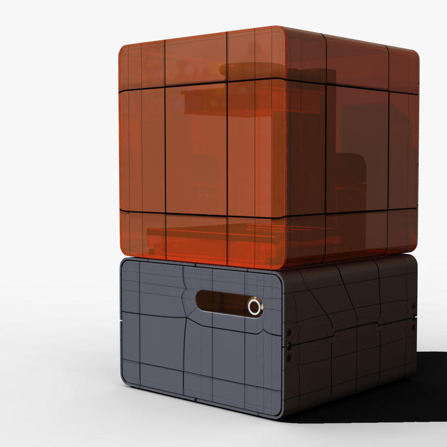 Drukarka 3D Form 1+ royalty-free 3d model - Preview no. 5