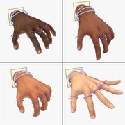 索具构成的手索具 3d model