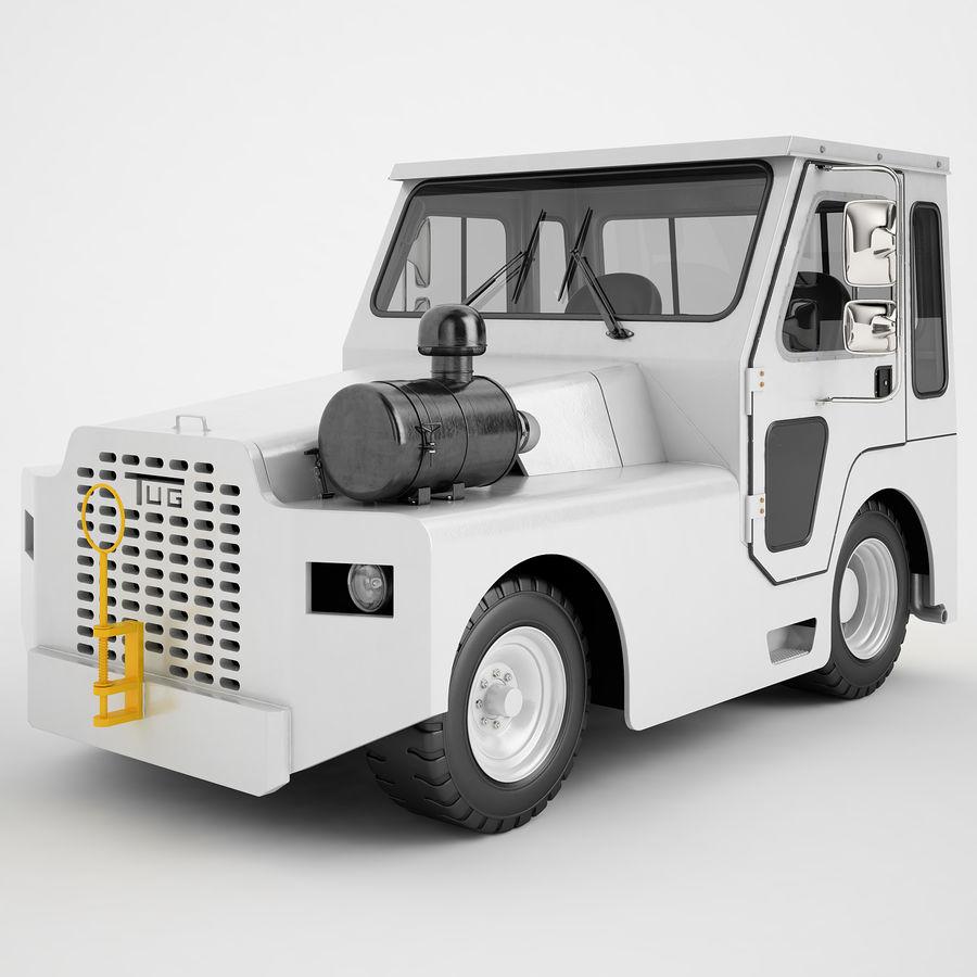 航空機牽引トラクター01 royalty-free 3d model - Preview no. 2