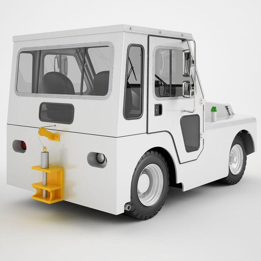 航空機牽引トラクター01 royalty-free 3d model - Preview no. 5