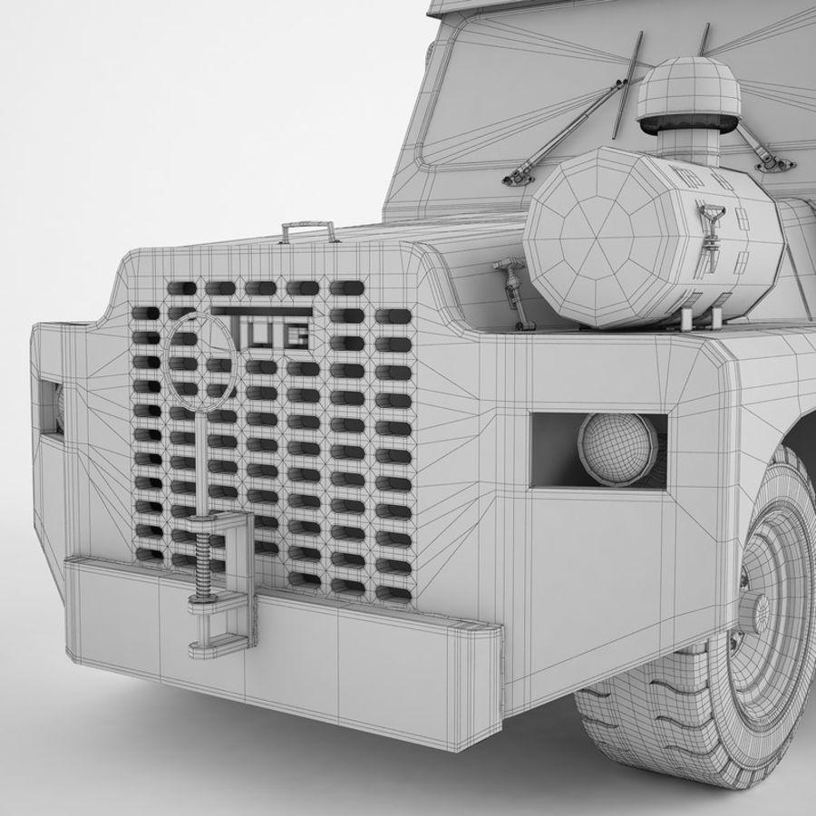 航空機牽引トラクター01 royalty-free 3d model - Preview no. 24