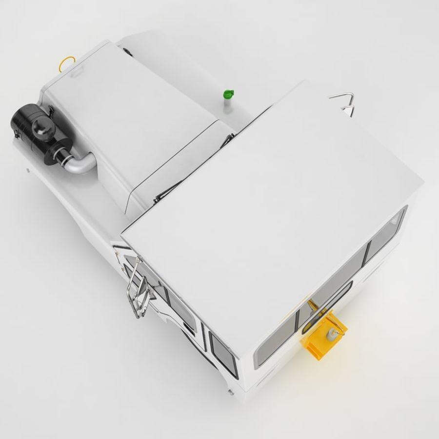 航空機牽引トラクター01 royalty-free 3d model - Preview no. 21