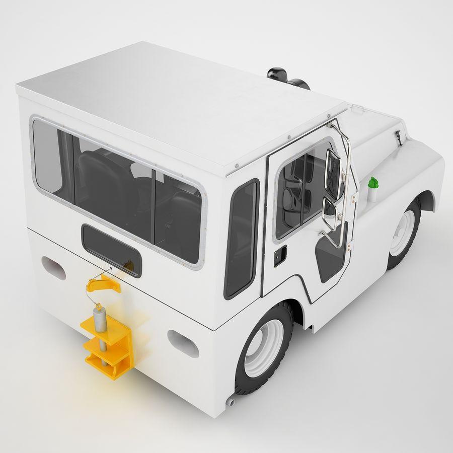 航空機牽引トラクター01 royalty-free 3d model - Preview no. 17