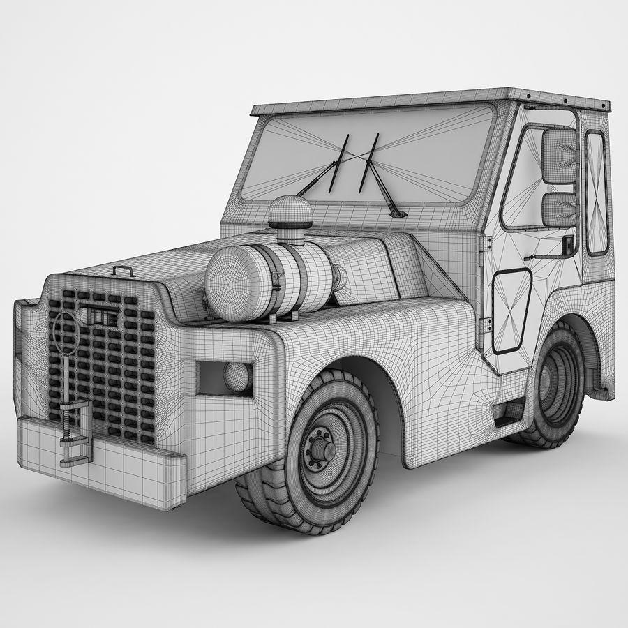 航空機牽引トラクター01 royalty-free 3d model - Preview no. 3