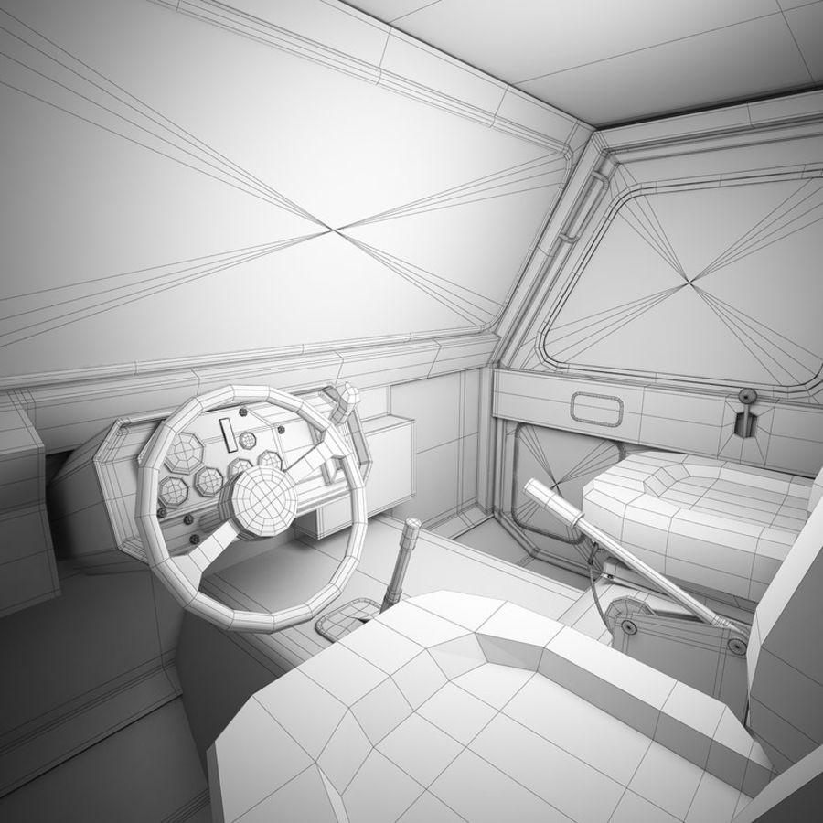 航空機牽引トラクター01 royalty-free 3d model - Preview no. 10