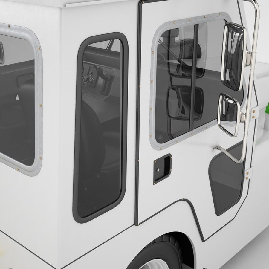 航空機牽引トラクター01 royalty-free 3d model - Preview no. 47