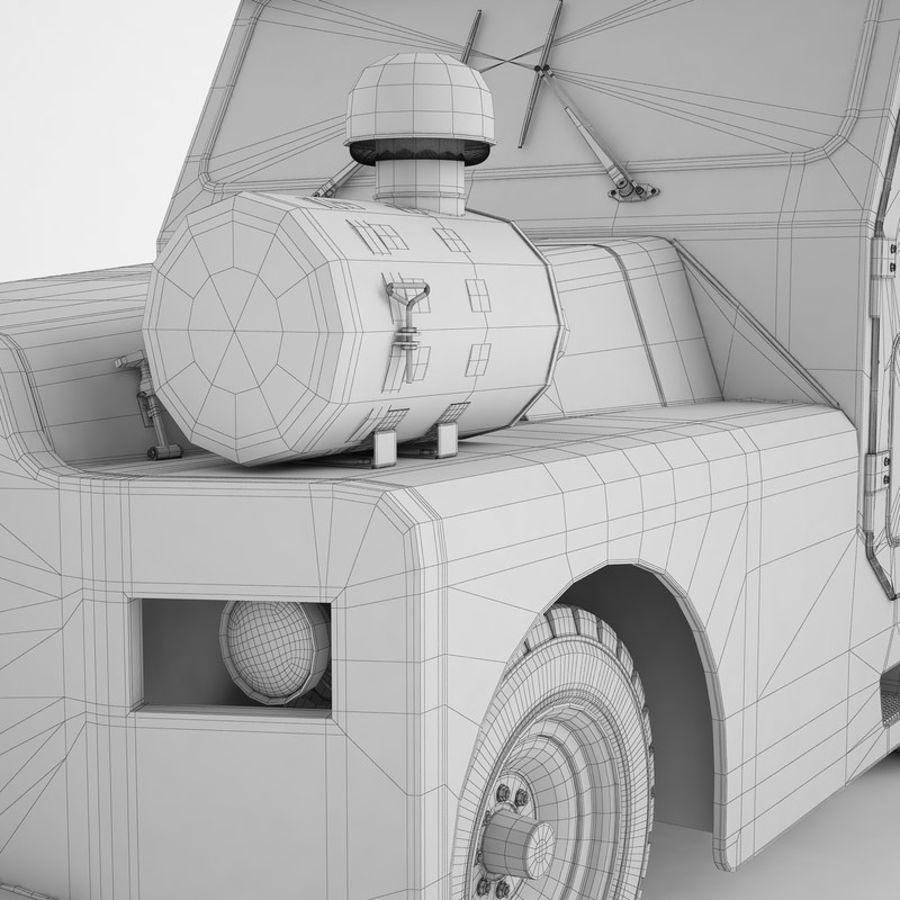 航空機牽引トラクター01 royalty-free 3d model - Preview no. 30