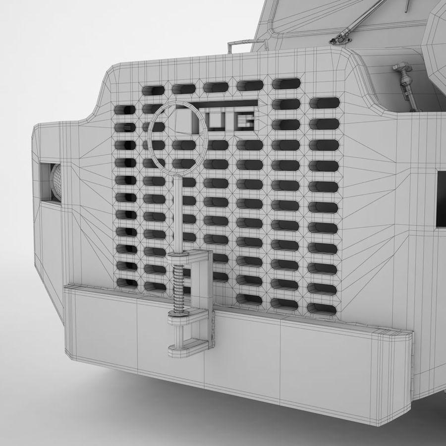 航空機牽引トラクター01 royalty-free 3d model - Preview no. 28