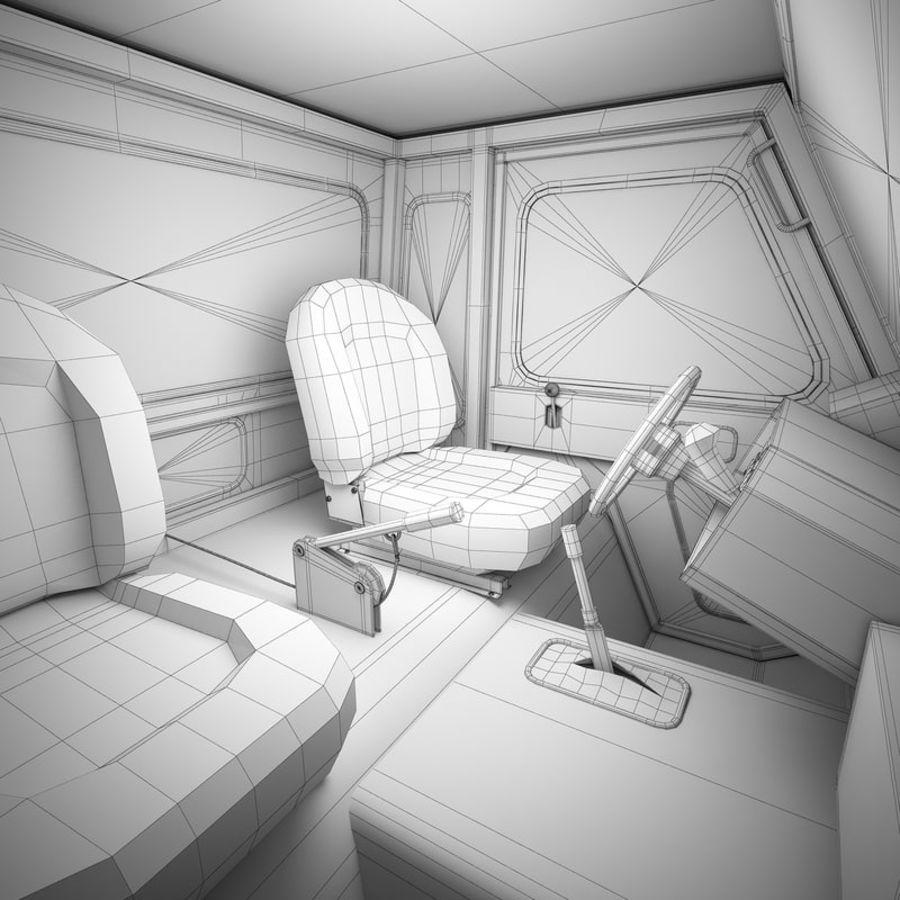 航空機牽引トラクター01 royalty-free 3d model - Preview no. 12