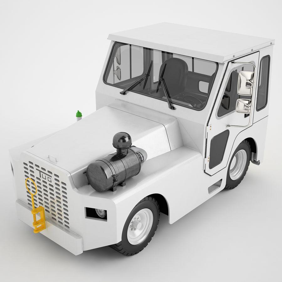 航空機牽引トラクター01 royalty-free 3d model - Preview no. 13
