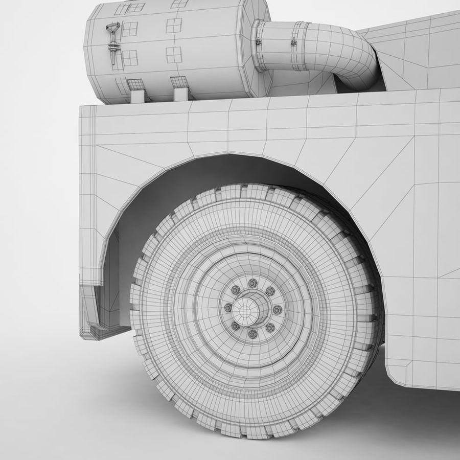 航空機牽引トラクター01 royalty-free 3d model - Preview no. 34