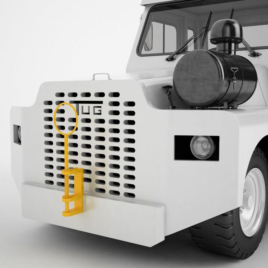 航空機牽引トラクター01 royalty-free 3d model - Preview no. 23