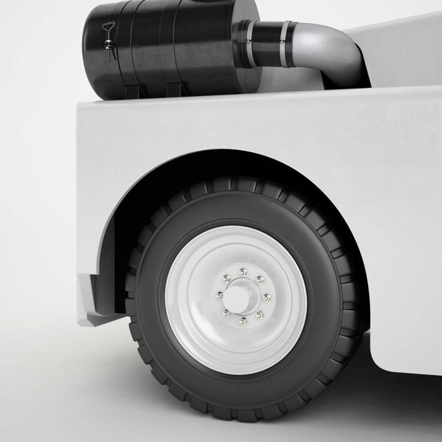航空機牽引トラクター01 royalty-free 3d model - Preview no. 33