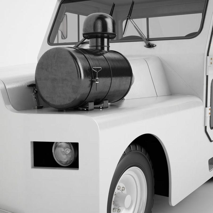 航空機牽引トラクター01 royalty-free 3d model - Preview no. 29