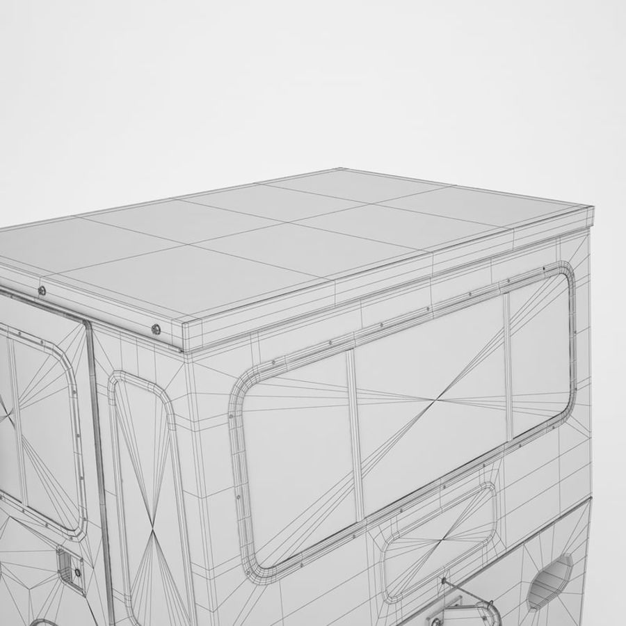 航空機牽引トラクター01 royalty-free 3d model - Preview no. 44