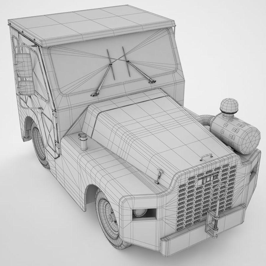 航空機牽引トラクター01 royalty-free 3d model - Preview no. 20