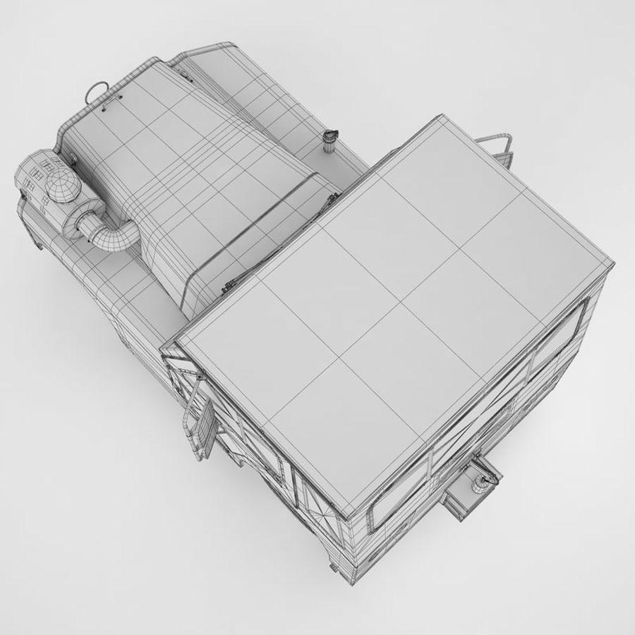 航空機牽引トラクター01 royalty-free 3d model - Preview no. 22