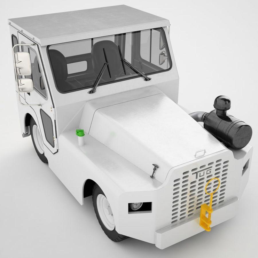 航空機牽引トラクター01 royalty-free 3d model - Preview no. 19