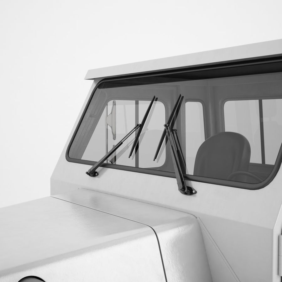 航空機牽引トラクター01 royalty-free 3d model - Preview no. 35