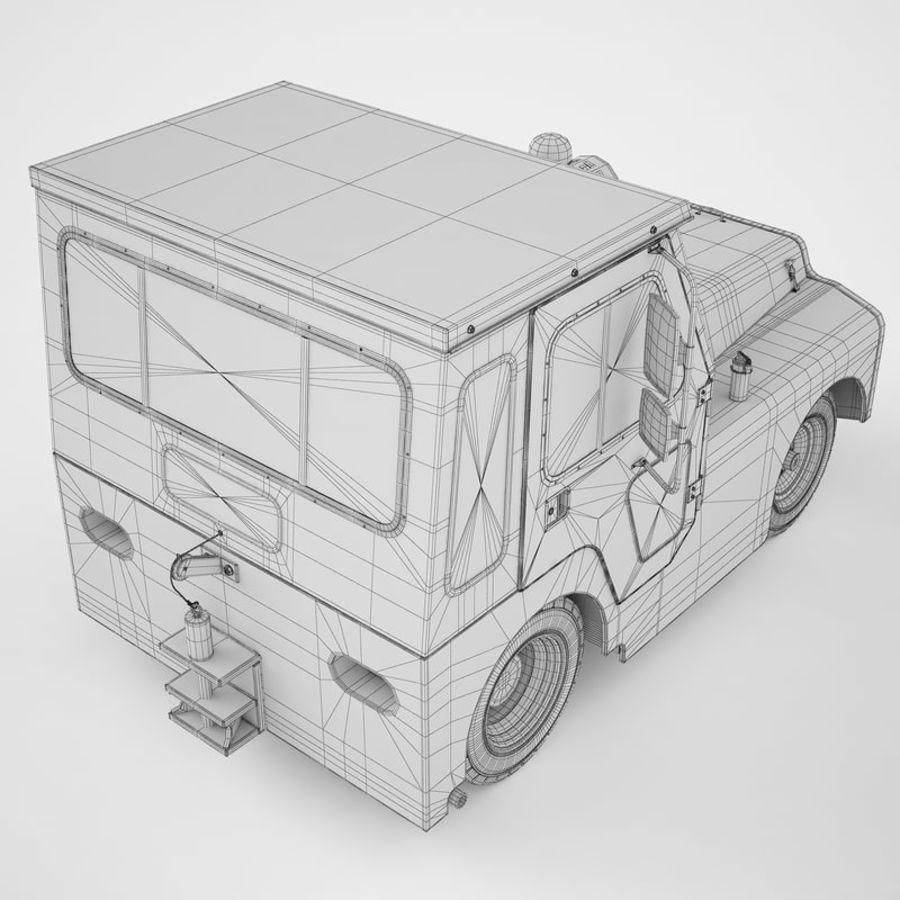 航空機牽引トラクター01 royalty-free 3d model - Preview no. 18