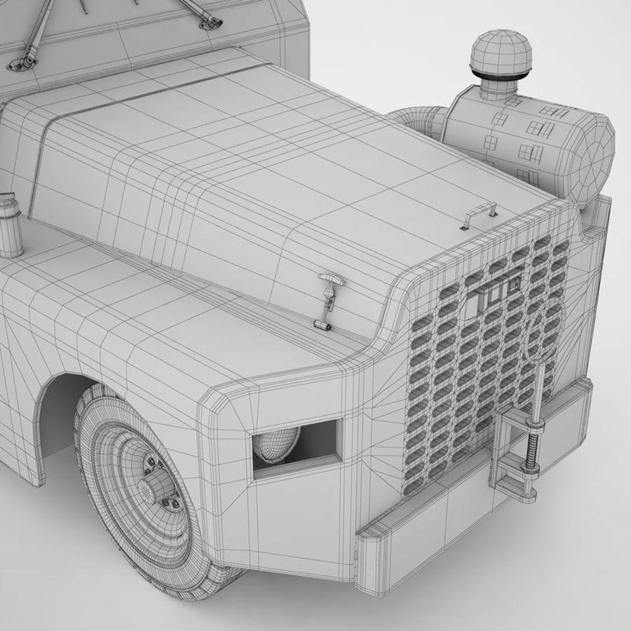 航空機牽引トラクター01 royalty-free 3d model - Preview no. 26