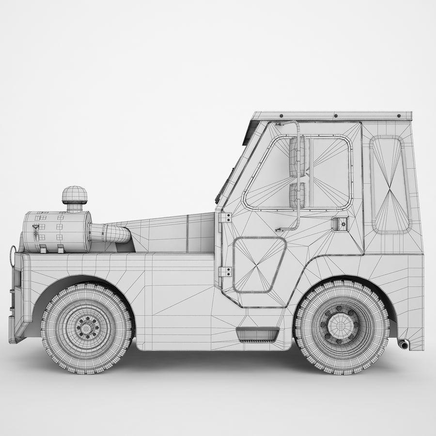 航空機牽引トラクター01 royalty-free 3d model - Preview no. 8