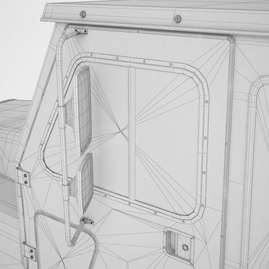 航空機牽引トラクター01 royalty-free 3d model - Preview no. 46